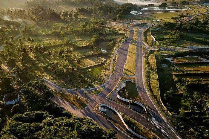 Ilustrasi Sirkuit Mandalika, yang akan jadi venue gelaran MotoGP Indonesia dan juga WSBK.