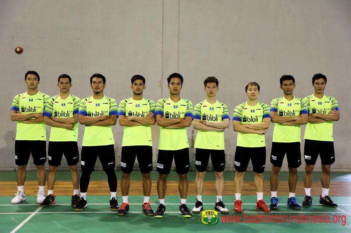 Tim bulu tangkis putra Indonesia yang akan berlaga pada Kejuaraan Beregu Asia 2020 di Manila, Filipina.