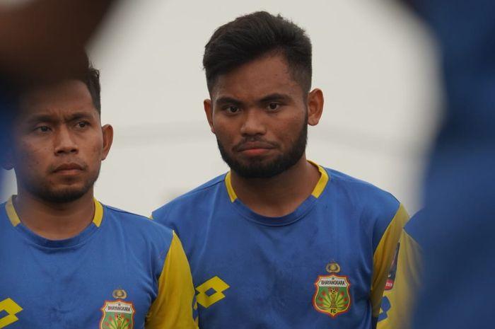 Saddil Ramdani saat mengikuti sesi latihan Bhayangkara FC jelang tampil di Piala Gubernur Jatim 2020
