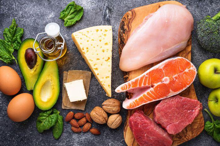(ilustrasi) Diet rendah karbohidrat dan tinggi lemak atau diet keto