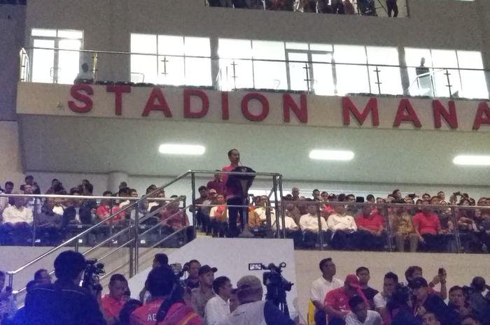 Presiden Joko Widodo telah meresmikan Stadion Manahan yang baru selesai direnovasi dan menjadi calon venue untuk Piala Dunia U-20 2021 pada Sabtu (15/2/2020).
