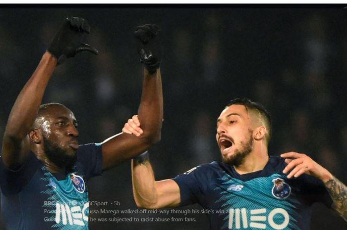 Striker Porto, Moussa Marega, menjadi korban pelecehan rasialis.