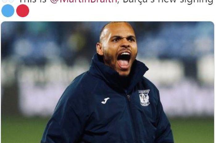Rekrutan anyar Barcelona, Martin Braithwaite.