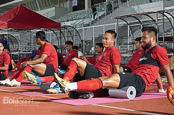 Suasana pemusatan latihan timnas Indonesia.