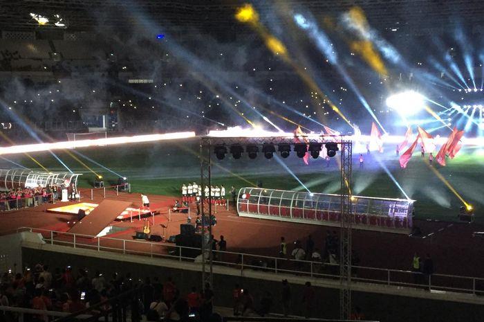 Persija Jakarta menggelar launching tim di Stadion Utama Gelora Bung Karno, Minggu (23/2/2020).