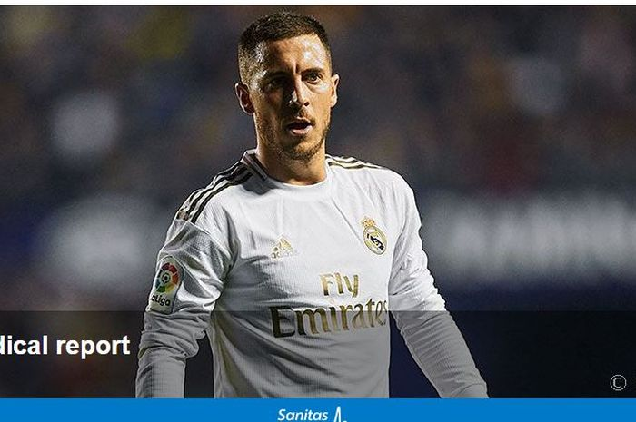 Bintang Real Madrid, Eden Hazard, dikonfrmasi kembali cedera.