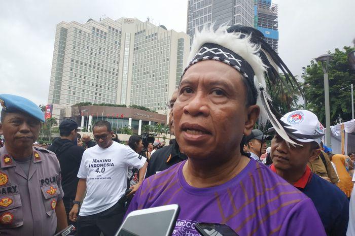 Menpora, Zainudin Amali saat ditemui setelah kampanye anti-narkoba dan PON 2020, di Bundaran Hotel Indonesia (HI) dalam kegiatan car free day, Minggu (23/2/2020), pagi.