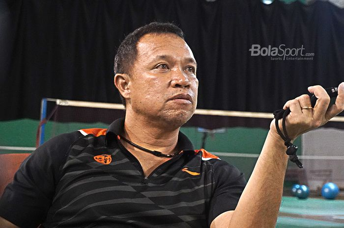 Pelatih Kepala Ganda Campuran Indonesia, Richard Mainaky, saat diwawancarai oleh Bolasport.com di Pelatnas PBSI, Cipayung, Jakarta (27/2/2020)
