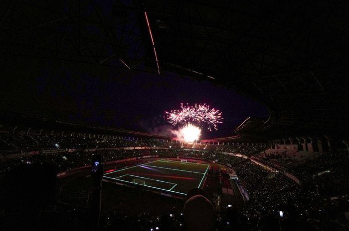 Suasana launching tim Persebaya Surabaya di Stadion Gelora Bung Tomo pada Sabtu (8/2/2020).