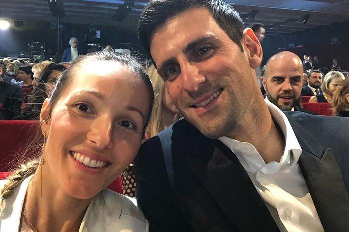 Foto Novak Djokovic dan istrinya, Jelena Djokovic