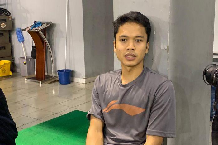 Pebulu tangkis tunggal putra Indonesia, Anthony Sinisuka Ginting, berpose di pelatnas PBSI, Cipayung, Jakarta, Selasa (3/3/2020).