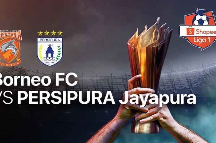 Ilustrasi laga anatara Borneo Fc vs Persipura Jayapura di pekan kedua Shopee Liga 1 2020.