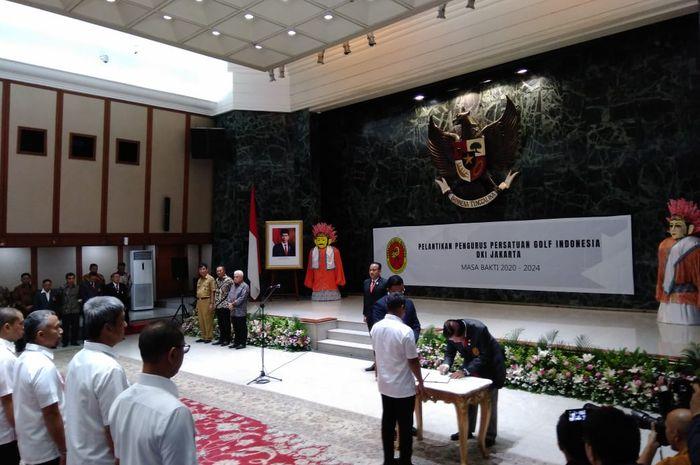 Pelantikan pengurus PGI, Jakarta, (9/3/2020) di Balai Agung Jakarta