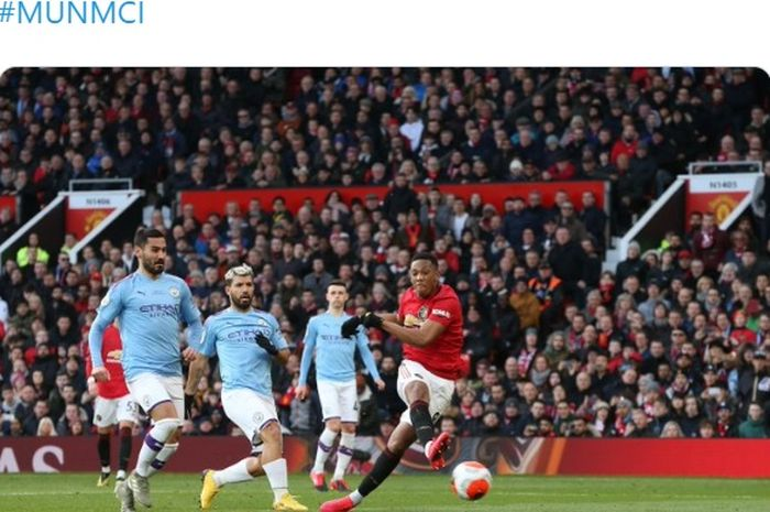Manchester United menjamu dengan rival sekotanya, Manchester City, pada laga pekan ke-29 Liga Inggris, Minggu (8/3/2020).
