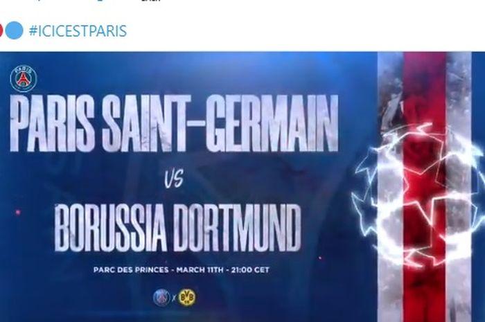 Paris Saint-Germain (PSG) akan menjamu Borussia Dortmund dalam laga leg kedua babak 16 besar Liga Champions di Stadion Parc des Princes, Kamis (12/3/2020) dini hari WIB.