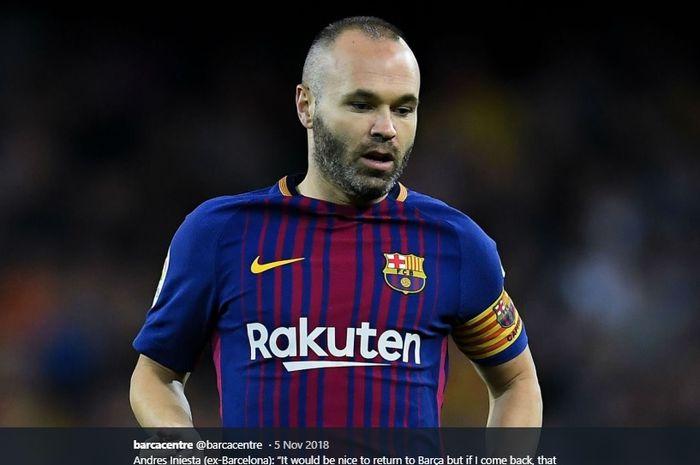 Eks gelandang tengah Barcelona, Andres Iniesta.