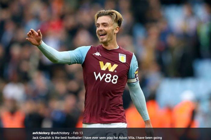 Gelandang serang Aston Villa, Jack Grealish menjadi incaran Manchester United.