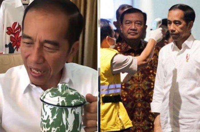Jokowi minum jamu untuk tangkal corona