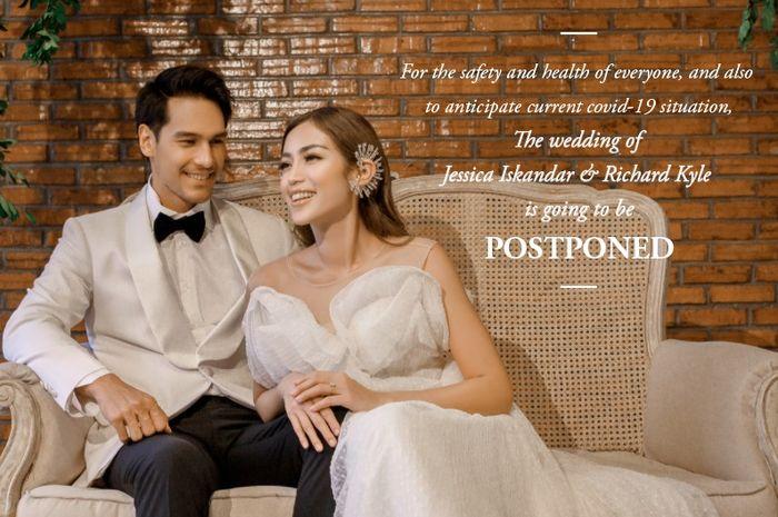Pernikahan Jessica Iskandar dan Richard Kyle Ditunda.