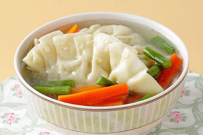 resep  pangsit ayam jahe enak sarapan nikmat  bikin badan hangat  halaman Resepi Sayur Campur Kukus Enak dan Mudah