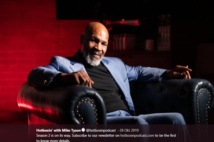 Legenda tinju Amerika Serikat, Mike Tyson.