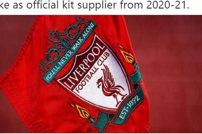 Liverpool bisa saja menggunakan jersey dengan sponsor baru mereka, Nike, sebelum musim 2020-2021 dimulai.
