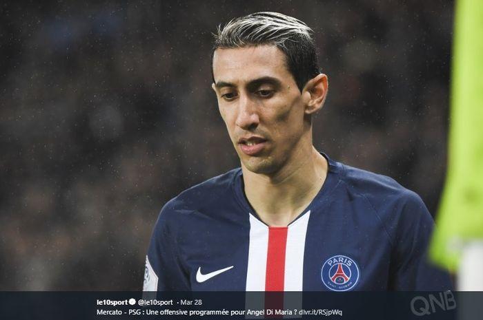 Mantan winger Real Madrid yang kini membela Paris Saint-Germain (PSG), Angel Di Maria.