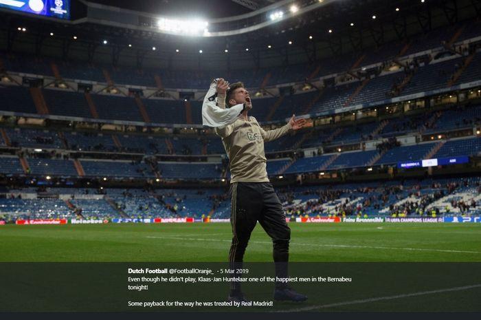 Mantan penyerang Real Madrid yang kini membela Ajax Amsterdam, Klaas-Jan Huntelaar