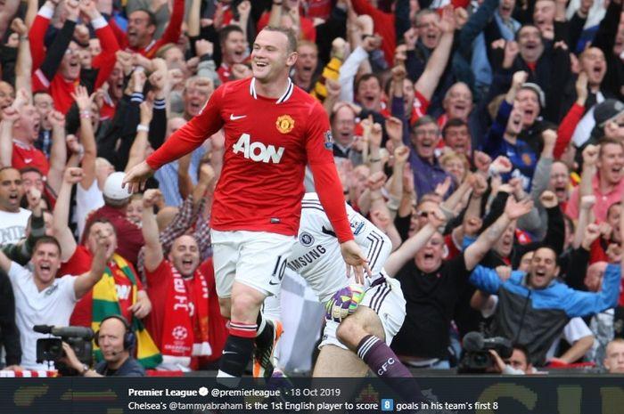 Mantan penyerang Manchester United, Wayne Rooney.