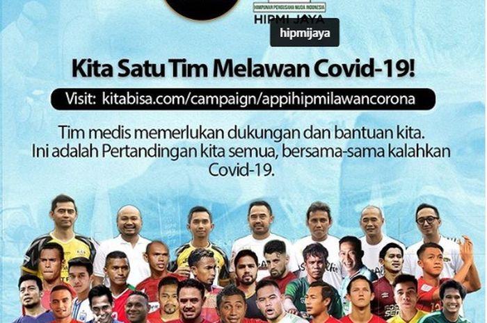Asosiasi Pemain Profesional Indonesia (APPI) gelar aksi penggalang dana untuk bantu atasi Covid-19.