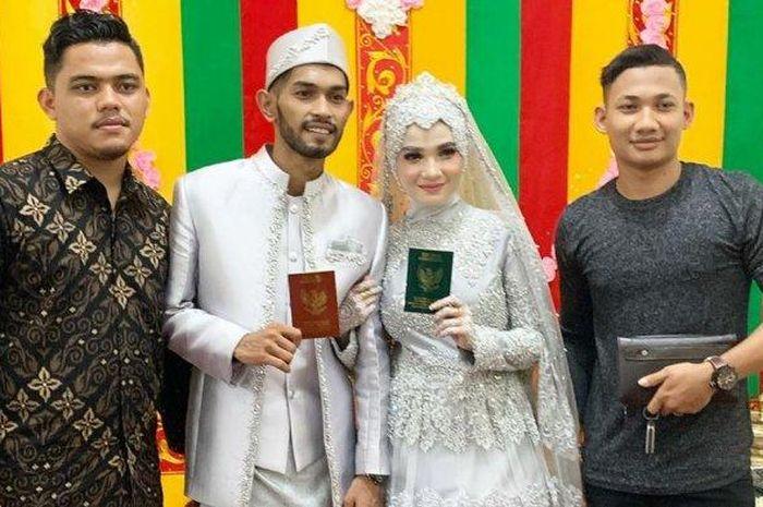 Martunis dan Sri Wahyuni langsungkan akad nikah pada Selasa (32/3/2020)