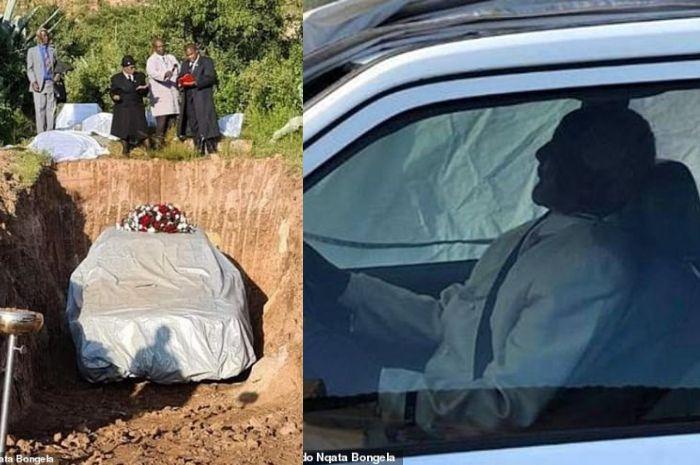 Pria ini dimakamkan bersama mobilnya.