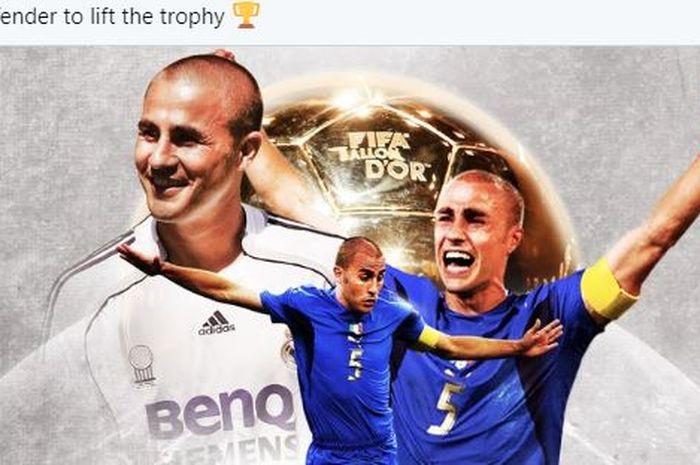 Bek legendaris timnas Italia, Fabio Cannavaro.