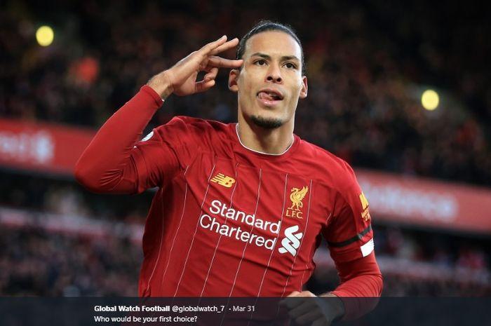 Bek tengah Liverpool, Virgil van Dijk.