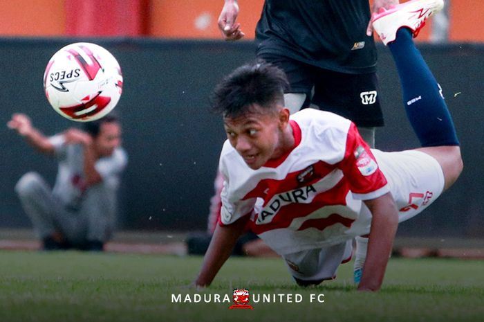 Pemain Madura United U-18, Daffa Akbar Dwi Cahyono.