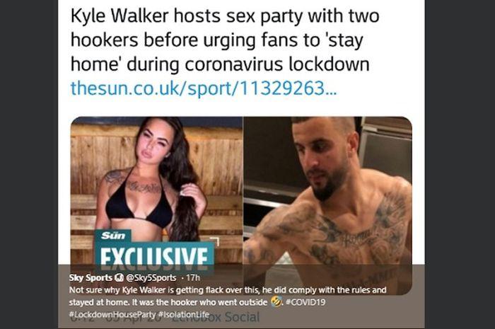 Louise McNamara dan Kyle Walker dalam pusaran pesta seks bek Manchester City di tengah pandemi virus corona.