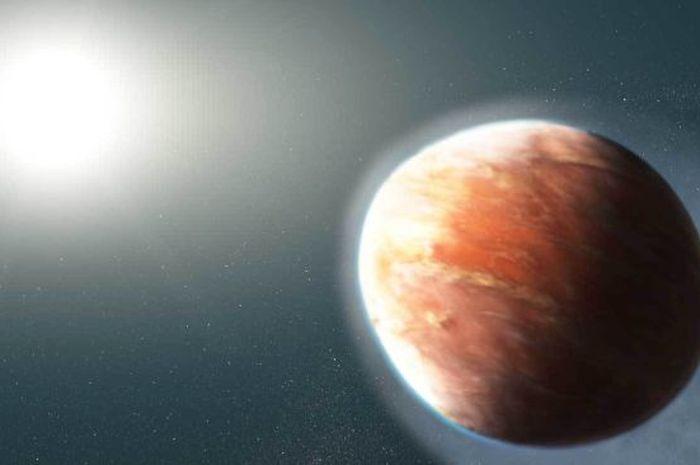 Ilustrasi exoplanet yang didistorsikan