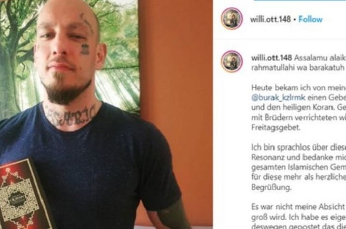 Wilhelm Ott, petarung MMA asal Austria yang memutuskan untuk mualaf.