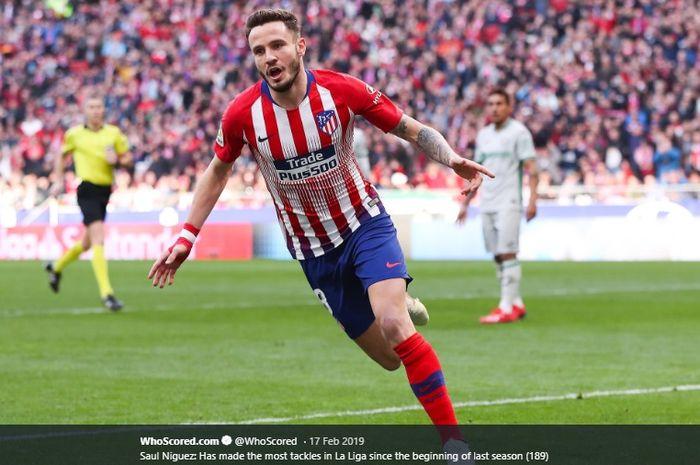 Gelandang Atletico Madrid, Saul Niguez, dikabarkan menjadi incaran serius Manchester United.