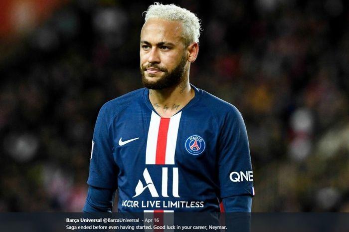 Penyerang Paris Saint-Germain (PSG), Neymar.