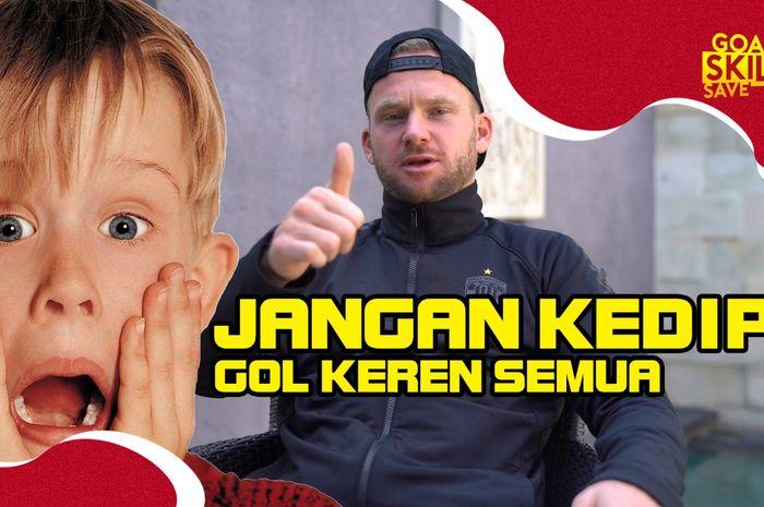 Melvin Platje menceritakan lima gol favoritnya ketika tampil bersama Bali United