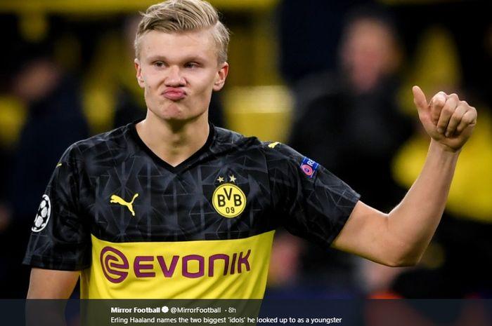 Penyerang muda fenomenal milik Borussia Dortmund, Erling Haaland.