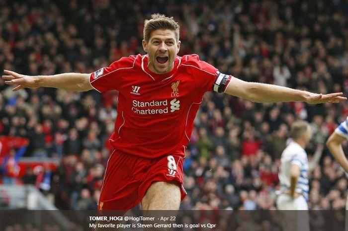 Mantan kapten Liverpool, Steven Gerrard.