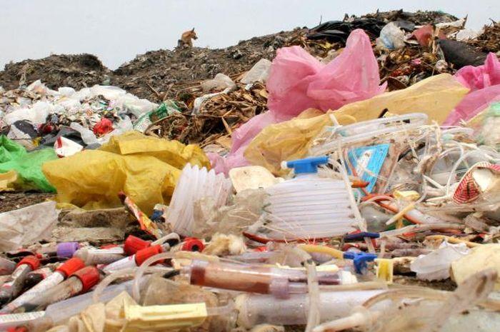 Ilustrasi sampah medis.