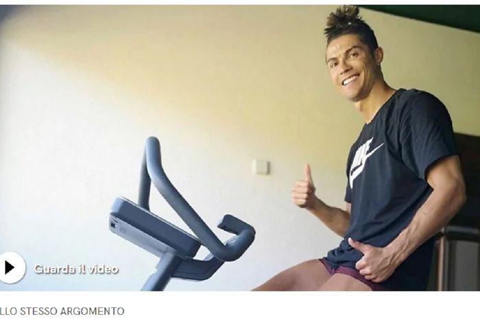 Bintang Juventus Cristiano Ronaldo tetap menjaga stamina selama penghentian kompetisi Liga Italia akibat wabah Covid-19.