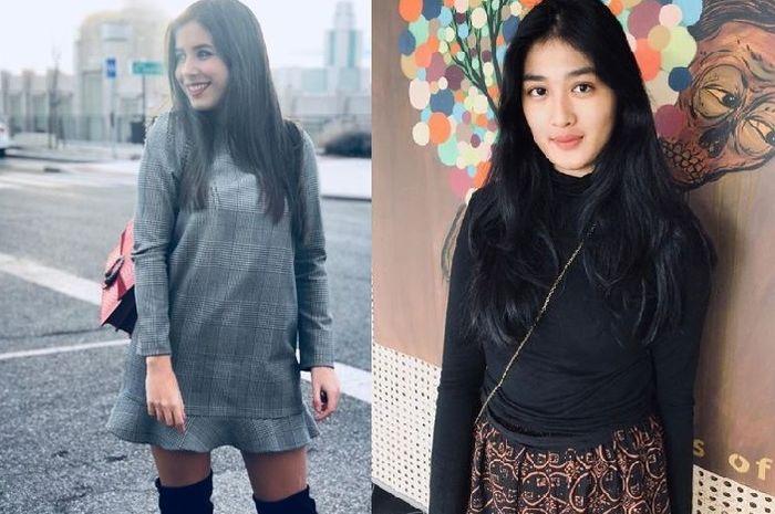 Paula Milla, putri Luis Milla, dan Rania Salsabila, putri Nilmaizar. Luis Milla dan Nilmaizar pernah melatih Timnas Indonesia.