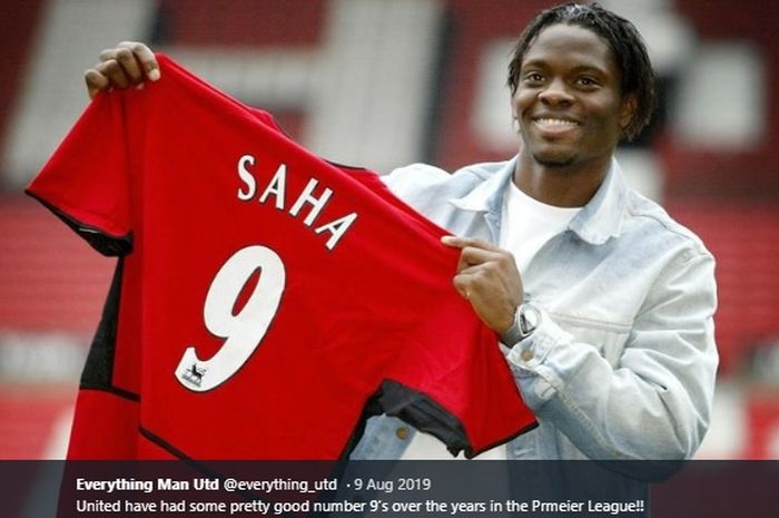 Eks penyerang Manchester United asal Prancis, Louis Saha.