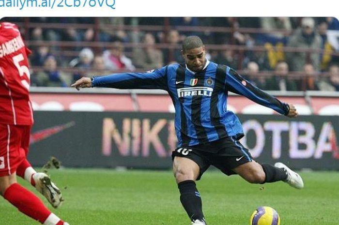 Striker Inter Milan, Adriano Leite Ribeiro.