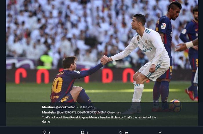 Lionel Messi dan Cristiano Ronaldo saat masih bertanding dalam duel bertajuk El Clasico.