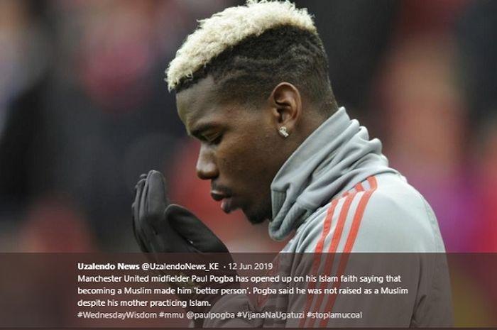 Gelandang Manchester United, Paul Pogba yang jadi mualaf meski sang ibu memeluk agama Islam.